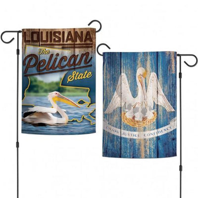 Louisiana Pelican State 2 Sided Garden Flag
