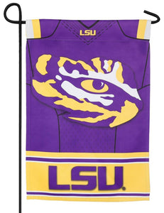 Louisiana State University Tigers Jersey 2-Sided Embellished Garden Flag Detail 1