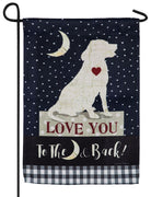 Love You Dog Suede Reflections Garden Flag