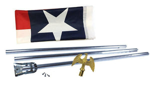 Low Cost Printed Polyester Texas Flagpole Kit - Flagpoles | Hardware/Flag and Pole Kits - I AmEricas Flags