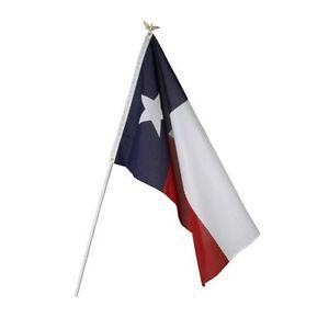 Low Cost Printed Polyester Texas Flagpole Kit
