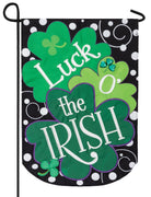 Luck O' the Irish Double Applique Garden Flag