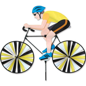 Male Cyclist Large Bicycle Wind Spinner