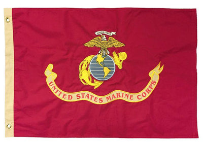 Marine Corps 2x3 Vintage Embroidered Cotton Flag