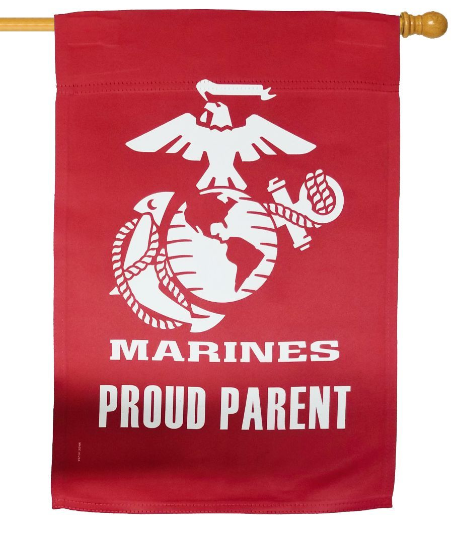 Marines Parent Sublimated House Flag