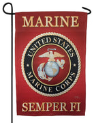 Marine Corps Seal Sublimated Garden Flag