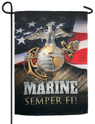 Marine Semper Fi Sublimated Garden Flag