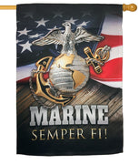 Marine Semper Fi Sublimated House Flag