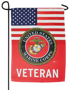 Marine Veteran Sublimated Garden Flag