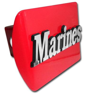 Marines Emblem Red Hitch Cover