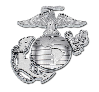 Marines Insignia Premium Chrome Car Emblem