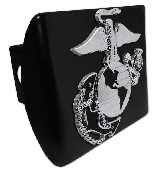 Marines Insignia Premium Chrome and Black Hitch Cover