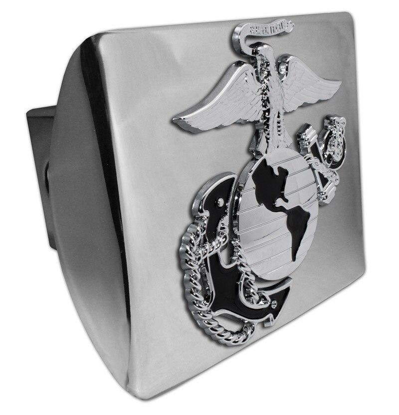 "Ship Anchor 3D Chrome Emblem Metal Trailer Hitch Cover Fits 2/"" Receivers"