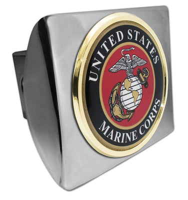 Marines Seal Chrome Hitch Cover