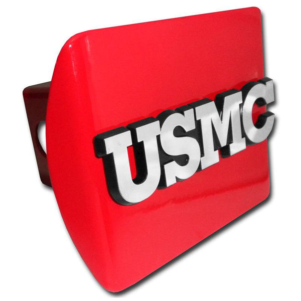 Marines USMC Emblem Red Hitch Cover