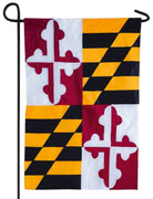 Maryland Applique Garden Flag