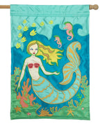 Mermaid Double Applique House Flag