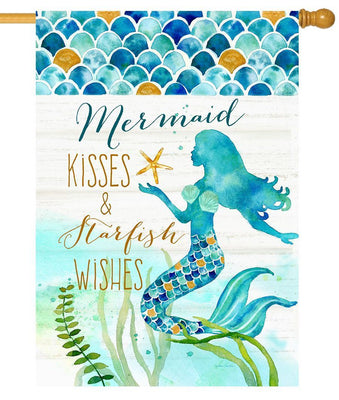 Mermaid Kisses House Flag
