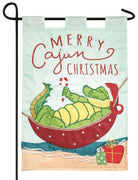 Merry Cajun Christmas Double Applique Garden Flag