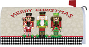 Merry Christmas Nutcrackers Mailbox Cover