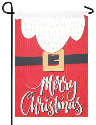 Merry Christmas Santa Suit Garden Flag