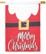 Merry Christmas Santa Suit House Flag