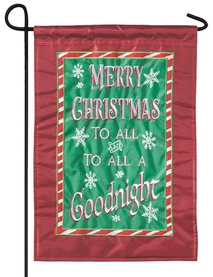 Merry Christmas to All Double Applique Garden Flag