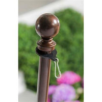 Metal Extendable Flagpole and Bracket Kit Bronze Detail