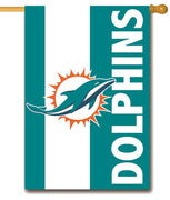 Miami Dolphins Embellished Applique House Flag