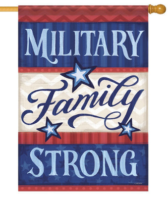 Military Family Strong House Flag