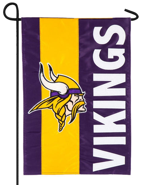 Minnesota Vikings Embellished Applique Garden Flag