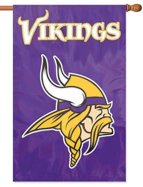 Minnesota Vikings Applique House Flag