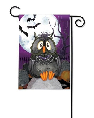 Moonlight Owl Garden Flag
