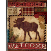 Moose Lodge Welcome Garden Flag - All Decorative Flags/Seasons/Fall Flags - I AmEricas Flags