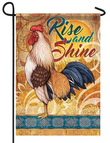 Morning Rooster Garden Flag - All Decorative Flags/Themes/Bird Flags/Roosters and Chickens - I AmEricas Flags