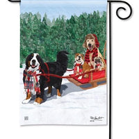 Mountain Dogs Garden Flag