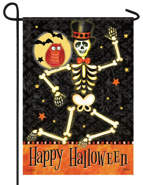 Mr. Bones Glitter Garden Flag - All Decorative Flags/Holidays/Halloween Flags - I AmEricas Flags