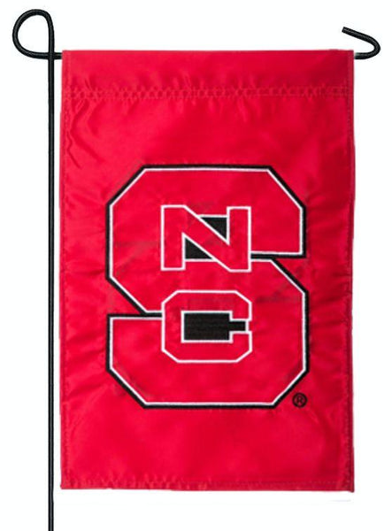 NC State University Applique Garden Flag