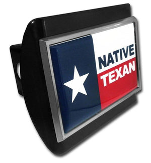 Native Texan Flag Black Hitch Cover