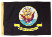 Navy 2x3 Vintage Embroidered Cotton Flag