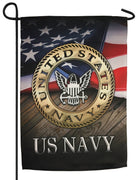 Navy Eagle Sublimated Garden Flag