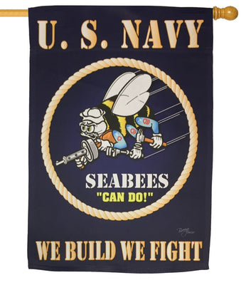 Navy Seabees Sublimated House Flag