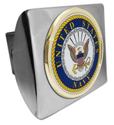 Navy Seal Chrome Hitch Cover