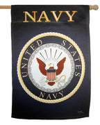 Navy Emblem Sublimated House Flag