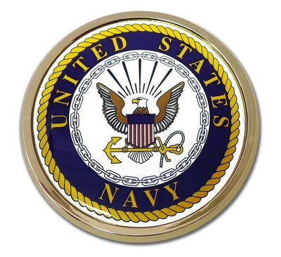 Navy Seal Chrome with Color Car Emblem