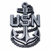 Navy USN Anchor Chrome Car Emblem