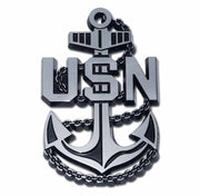 United State Navy Anchor emblem on black METAL Hitch Cover Elektroplate NAVY-ANCHOR-BLK-HRC