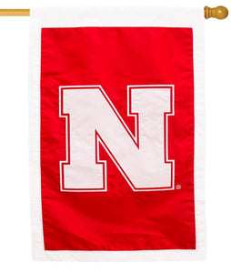 Nebraska Cornhuskers Applique House Flag