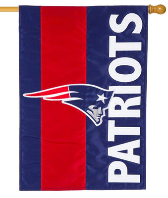 New England Patriots Embellished Applique House Flag
