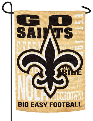 New Orleans Saints 2 Sided Suede Reflections Garden Flag